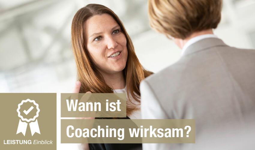 Wann ist Coaching wirksam?