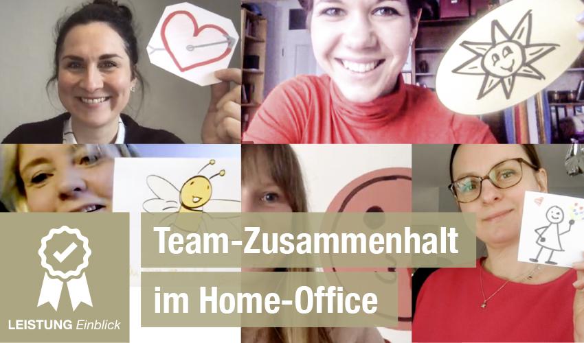 Team-Zusammenhalt im Home-Office